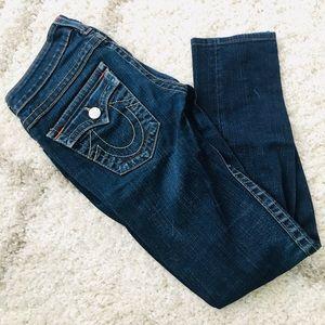 True Religion dark wash skinny jeans